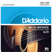 D'Addario Acoustic Guitar Strings - 80/20 Lite EJ11