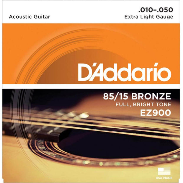 D'Addario Acoustic Guitar Strings - 85/15 X Lite EZ900