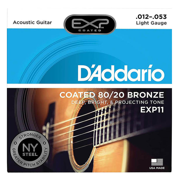 D'Addario Acoustic Guitar Strings - Exp 80/20 Lite EXP11