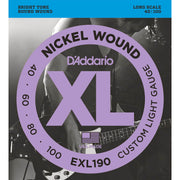 D'Addario Bass Guitar Strings - 40/100 EXL190