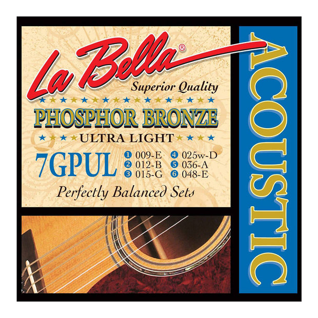La Bella Acoustic Guitar Strings - PB Ultra Lite 7GPUL