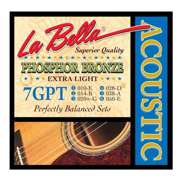 La Bella Acoustic Guitar Strings - PB X-Lite 7GPT