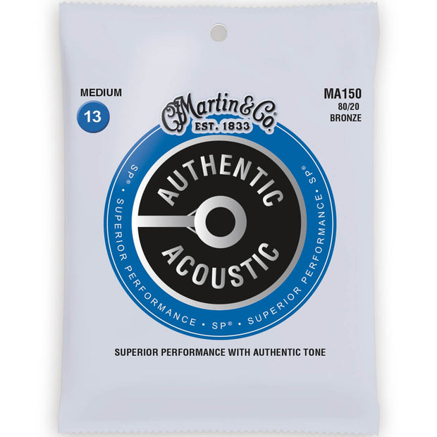 Martin Authentic Acoustic Guitar Strings - Med 150/6