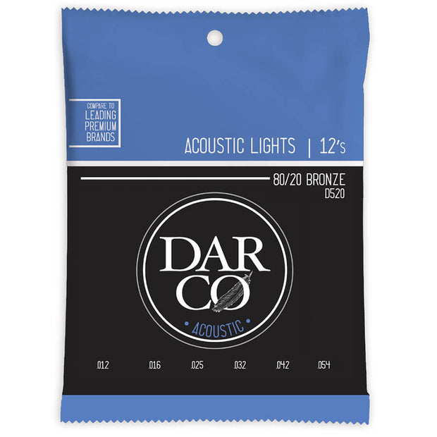 Martin Darco Acoustic Guitar Strings -  520 80/20 6 Str
