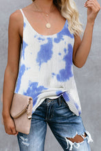 Load image into Gallery viewer, Sky Blue Tie Dye Print Knit Tank Top