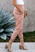 Load image into Gallery viewer, Pink Pocketed Cotton Joggers