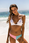 Shell - White or Pink Triangle Bikini Top