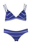 Safari - Dark Blue Stripe Cheeky Cut Bikini Bottoms