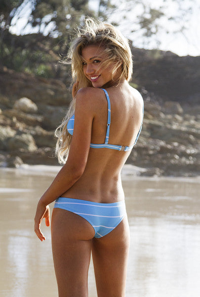 Safari Bottoms in light blue stripes - seamless