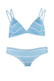 Safari - Light Blue Stripe Cheeky Cut Bikini Bottoms