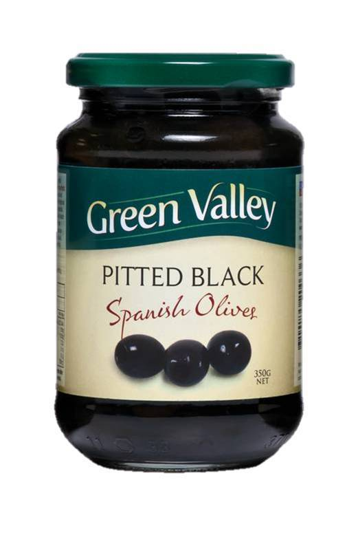Green Valley Pitted Black 350g