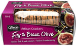 Olinas Fig And Black Olive Crackers 100g