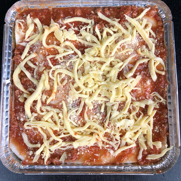 Homemade Beef Lasagna with Ham