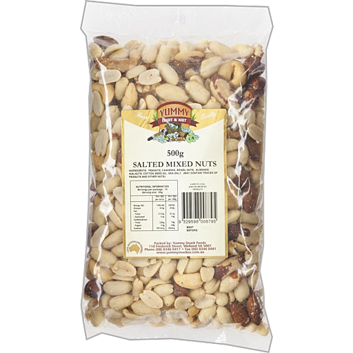 Yummysalted Mixed Nuts 500g