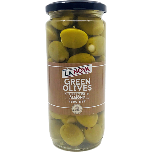 La Nova Olives Green Stuffed With Almond 480g