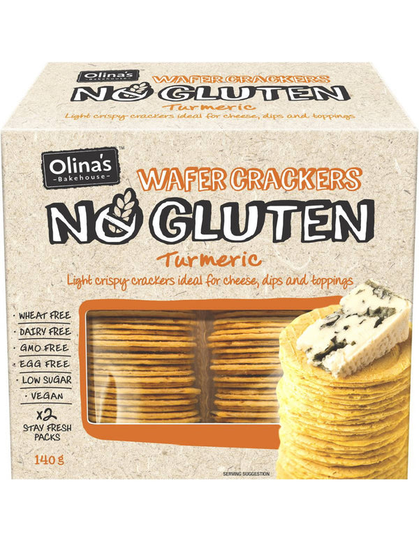 Olinas Natural Wafer Crackers Gluten Free 140g