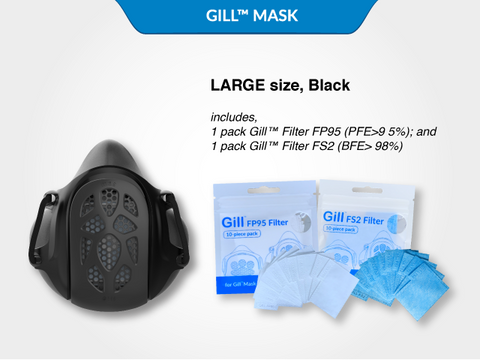 Large Black Gill™ Mask