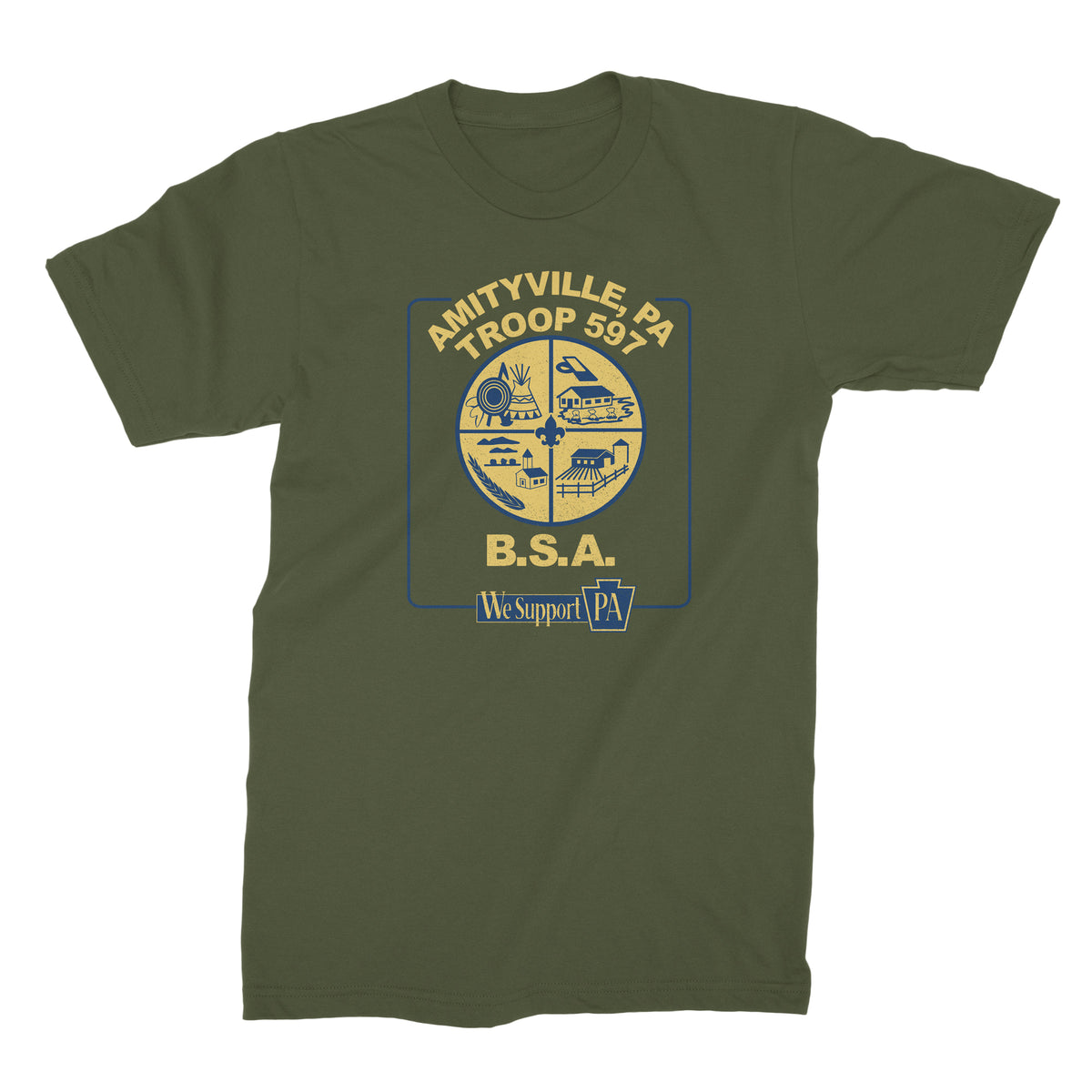 Boy Scout Troop 597 We Support PA T-Shirt
