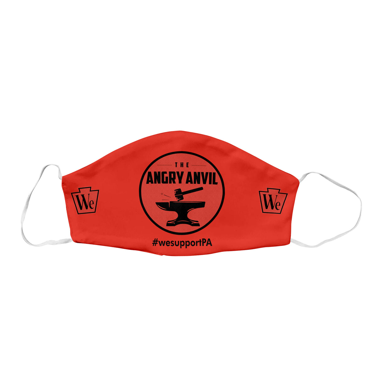 Angry Anvil We Support PA Face Mask
