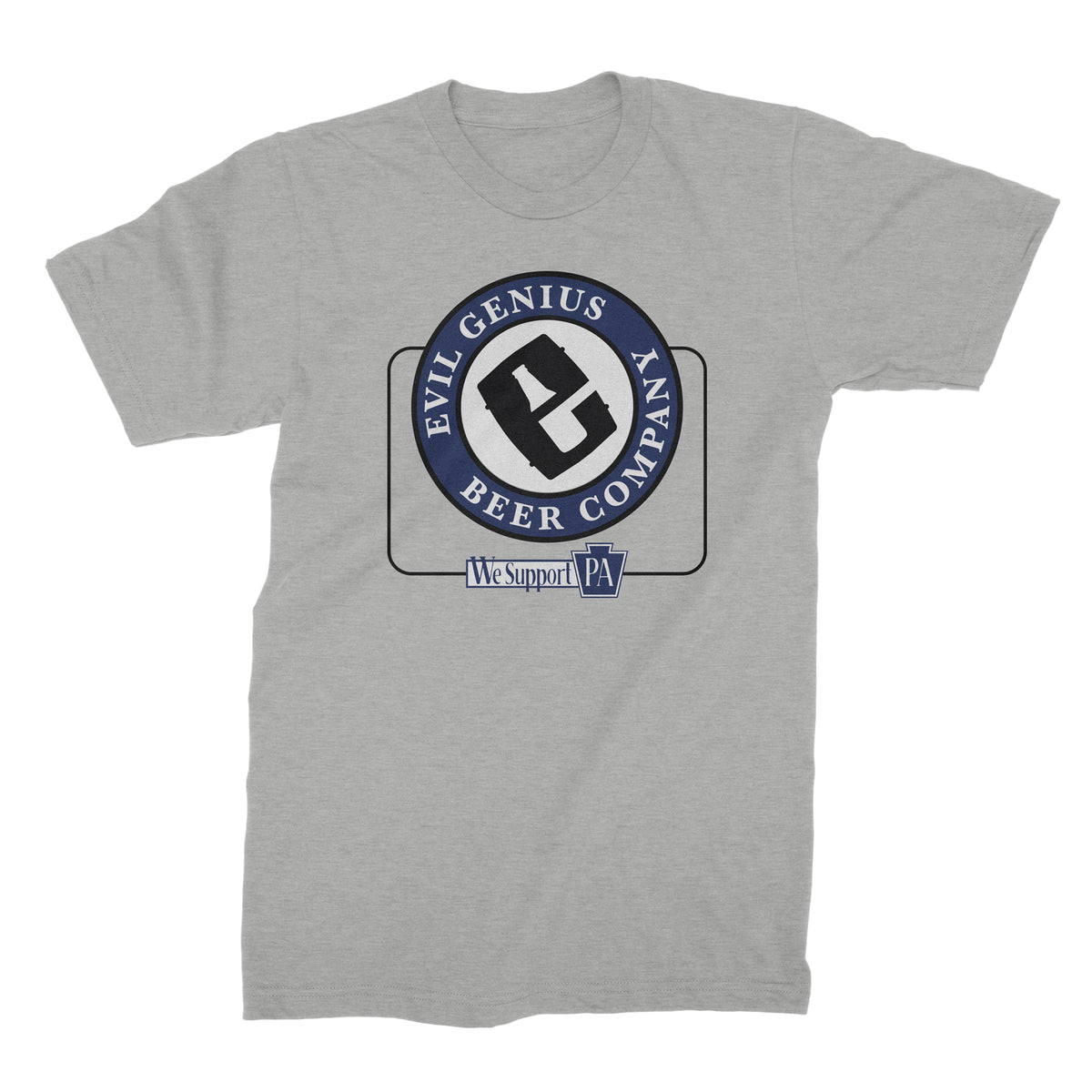 Evil Genius Beer Company We Support PA T-Shirt