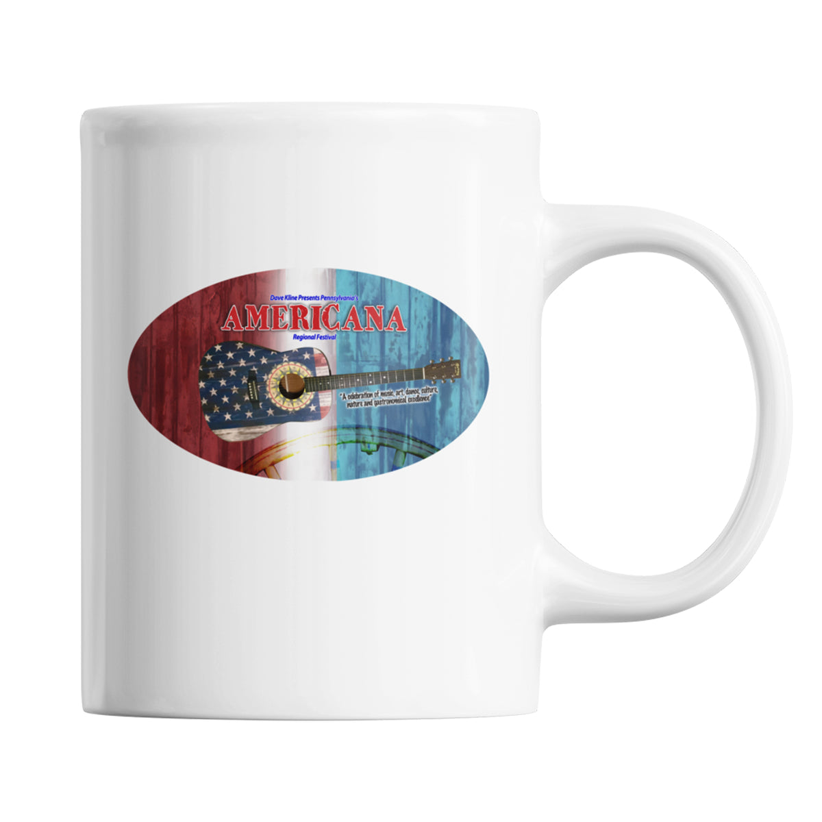 Pennsylvania's Americana Region Fest We Support PA Coffee Mug