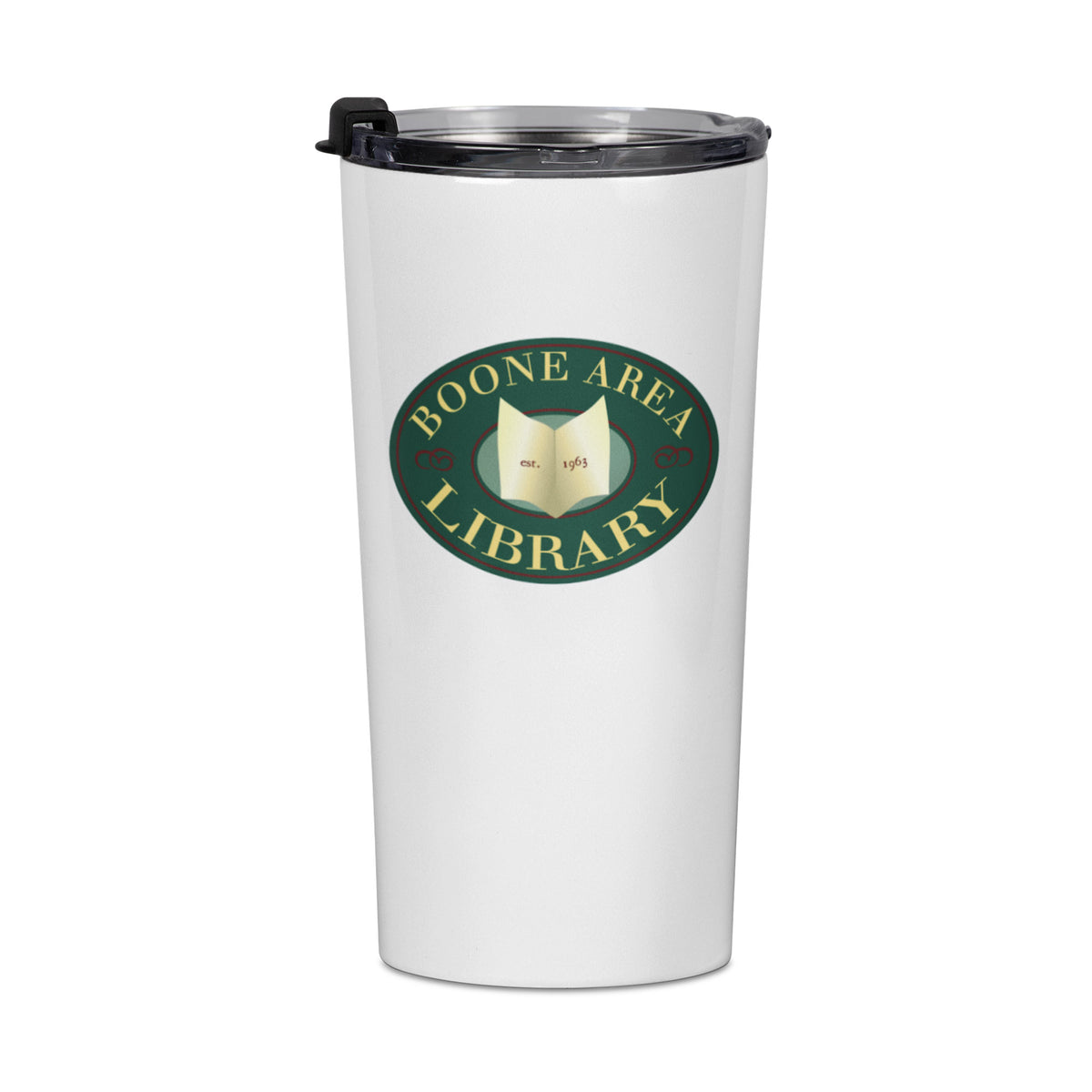 Boone Area Library We Support PA Travel Mug