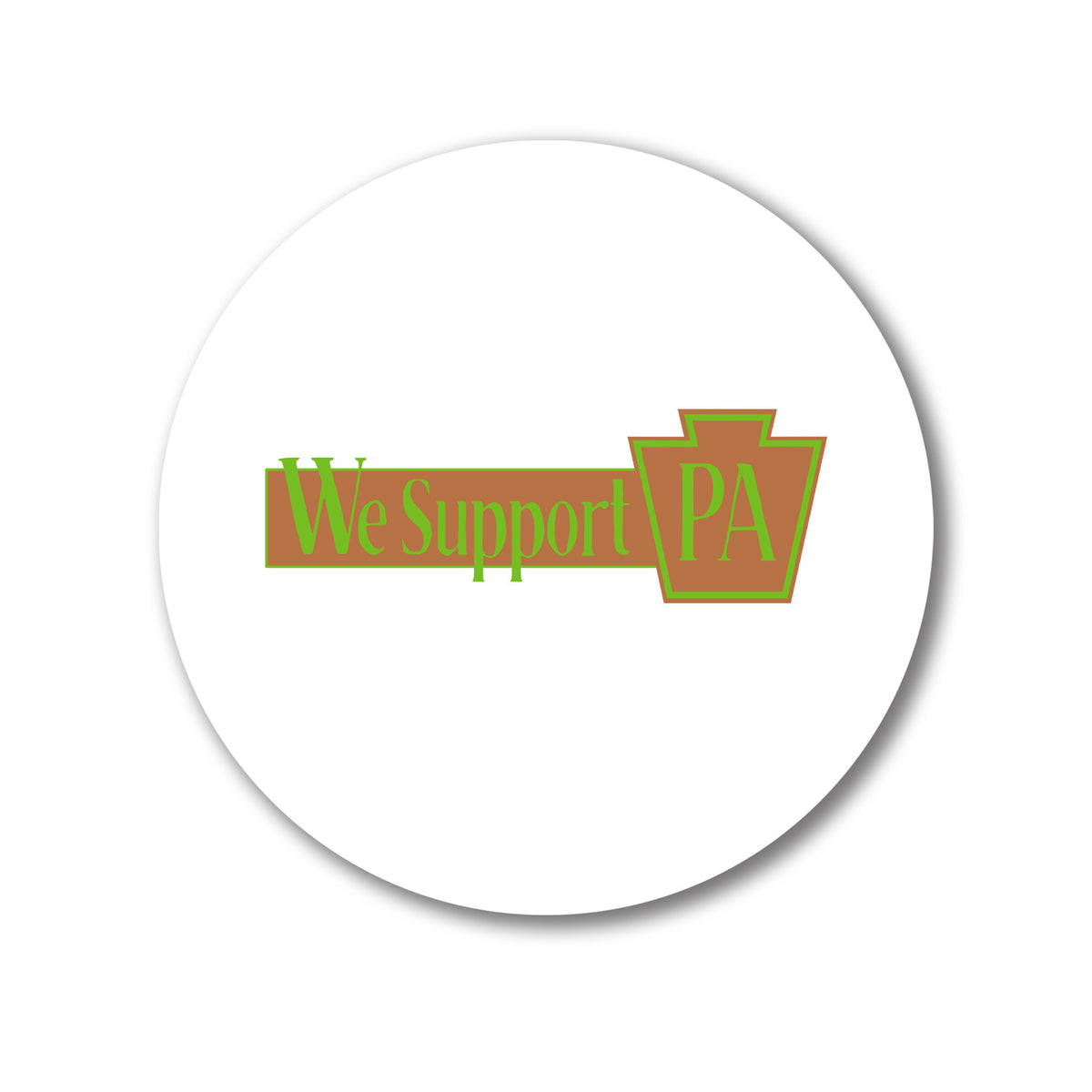 Bent Run Brewing We Support PA Coasters