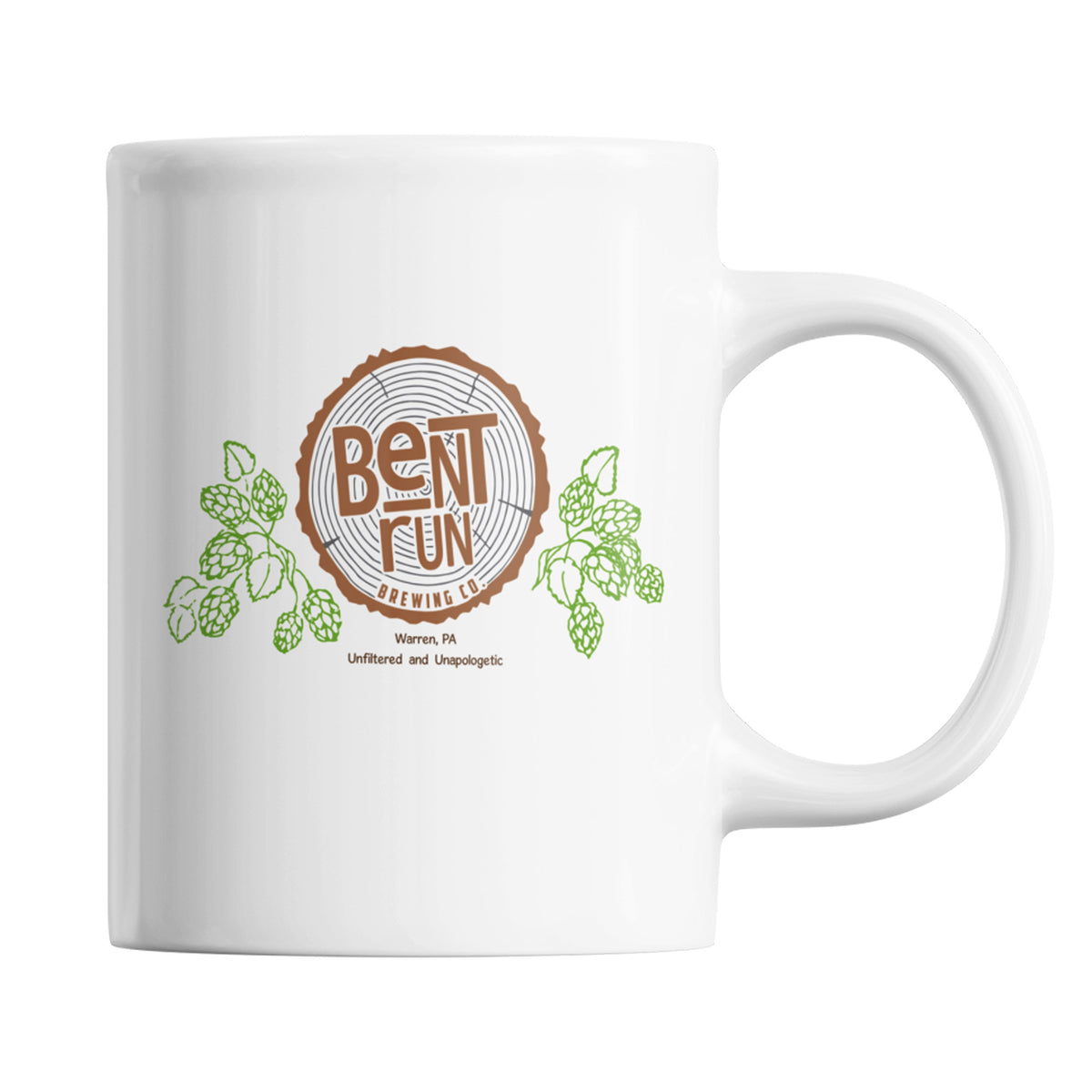 Bent Run Brewing We Support PA Coffee Mug
