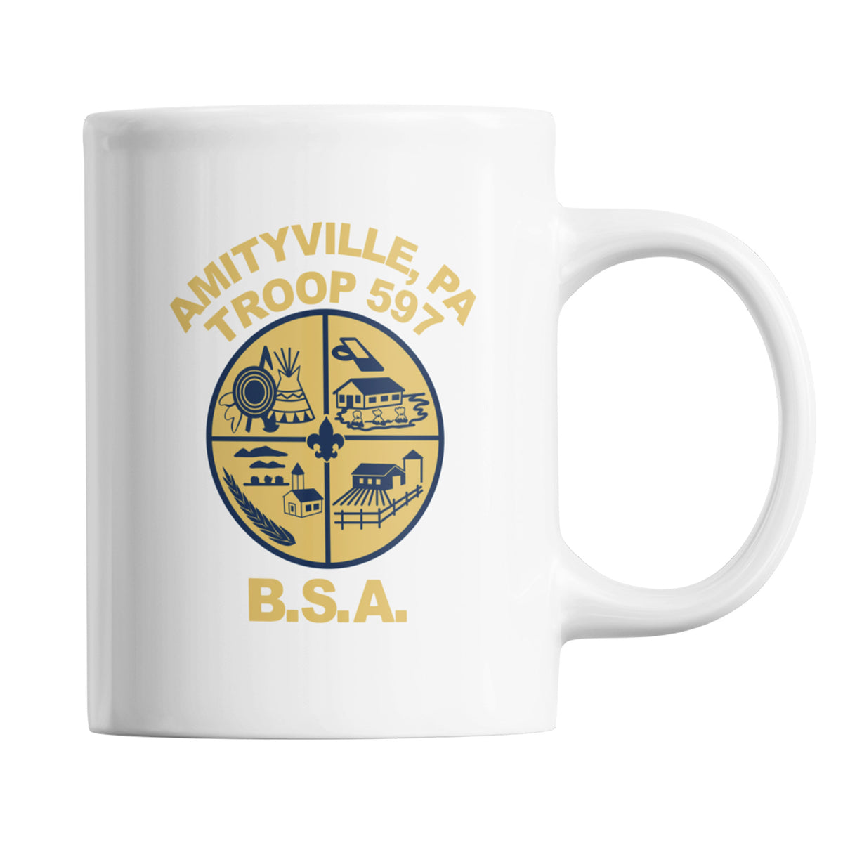 Boy Scout Troop 597 We Support PA Coffee Mug