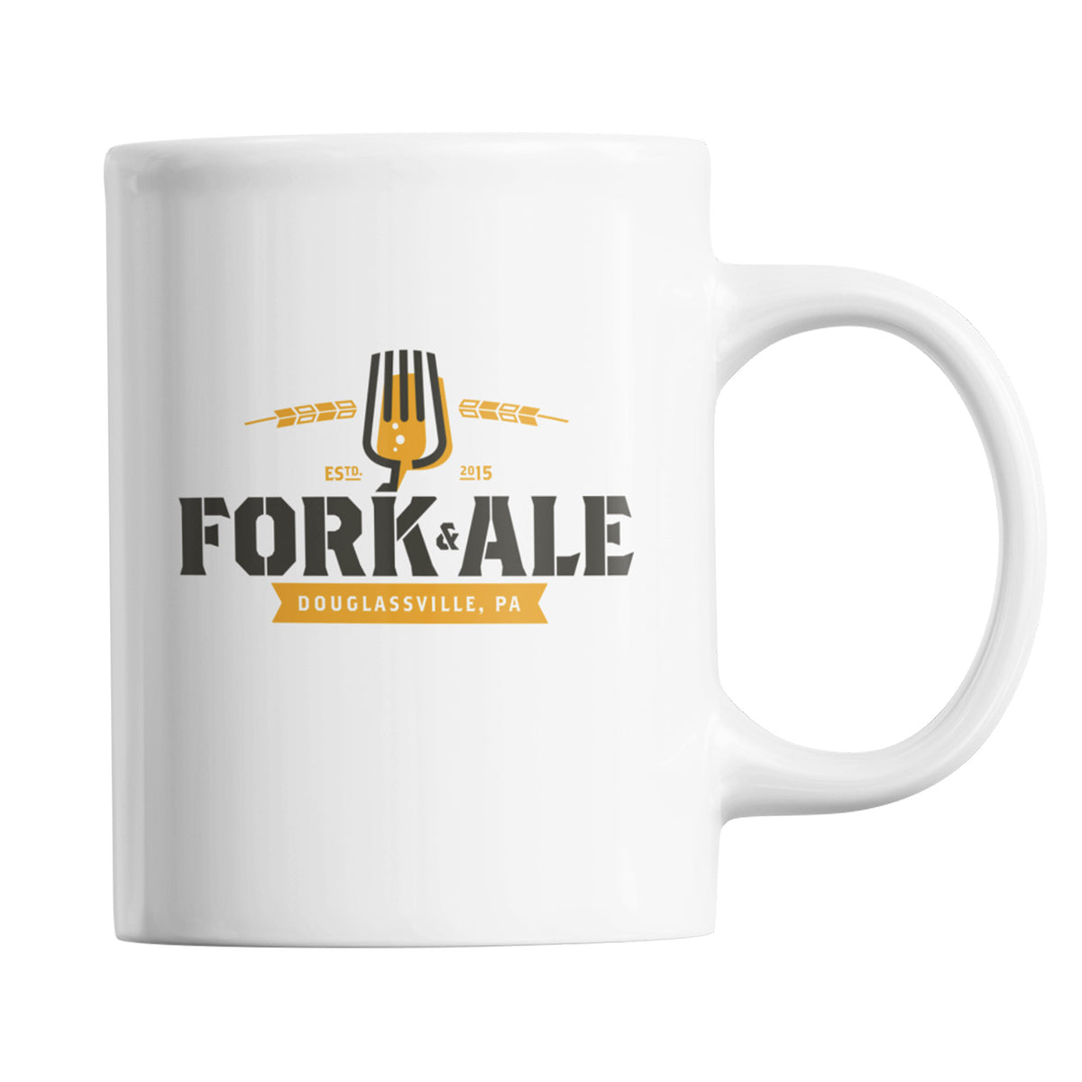 Fork and Ale We Support PA Coffee Mug
