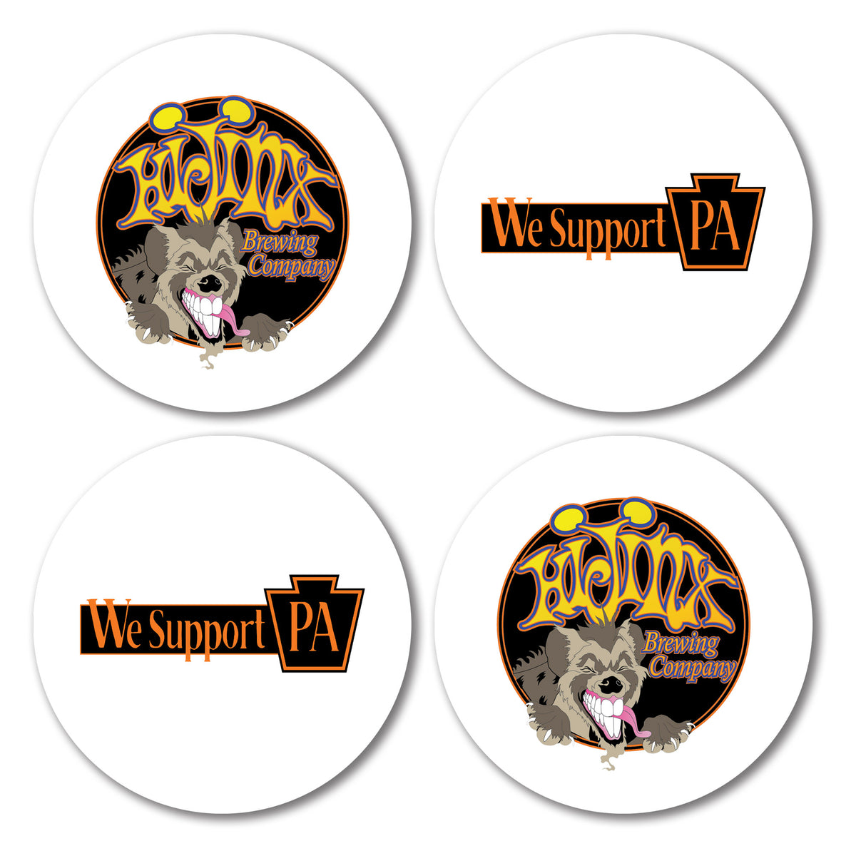 HiJinx Brewing Company We Support PA Coasters