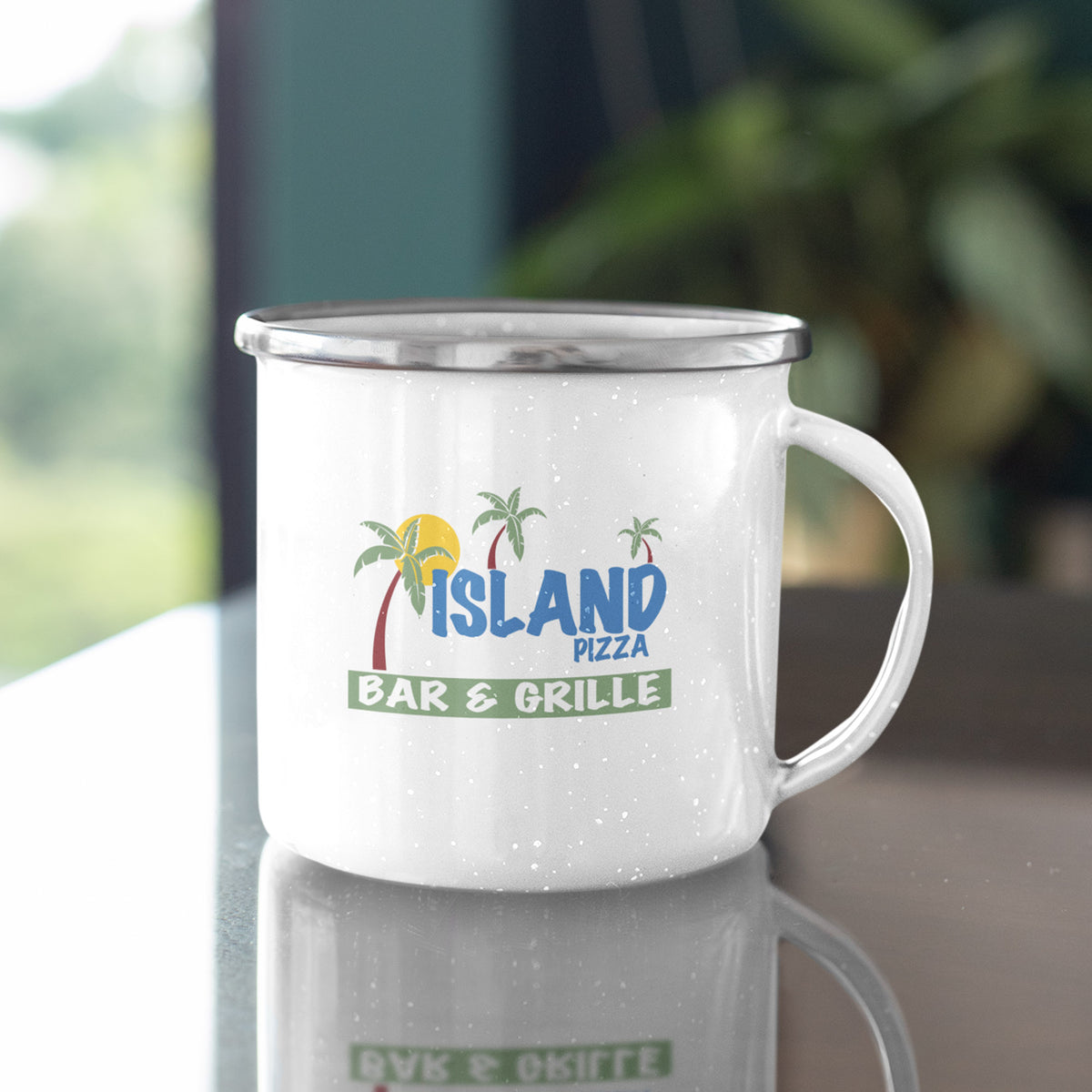 Island Pizza We Support PA Camp Mug
