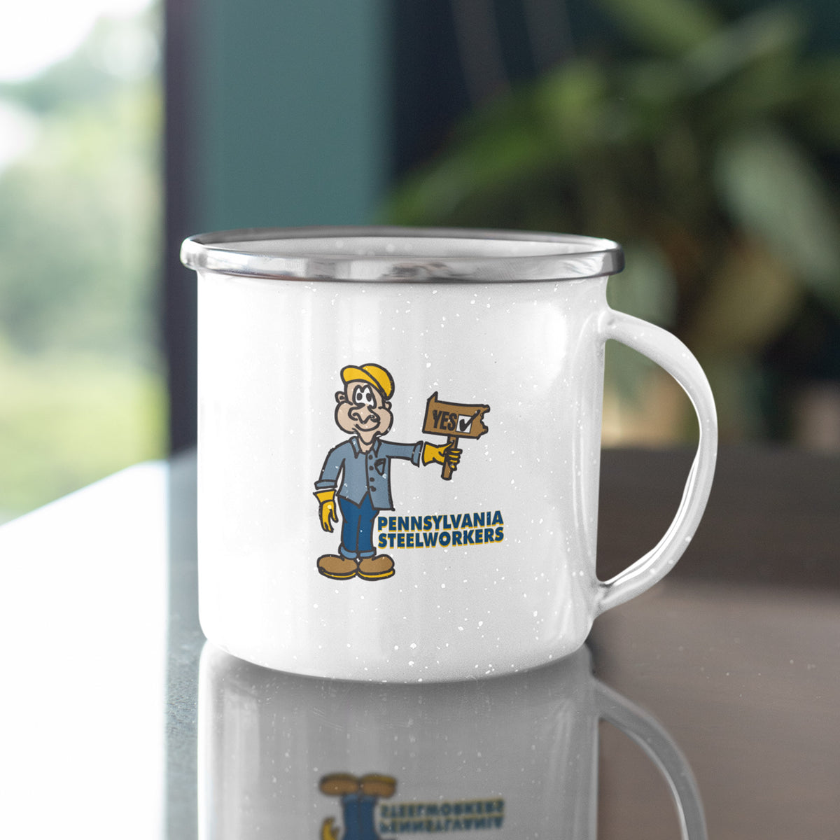 Pennsylvania Steelworkers We Support PA Camp Mug