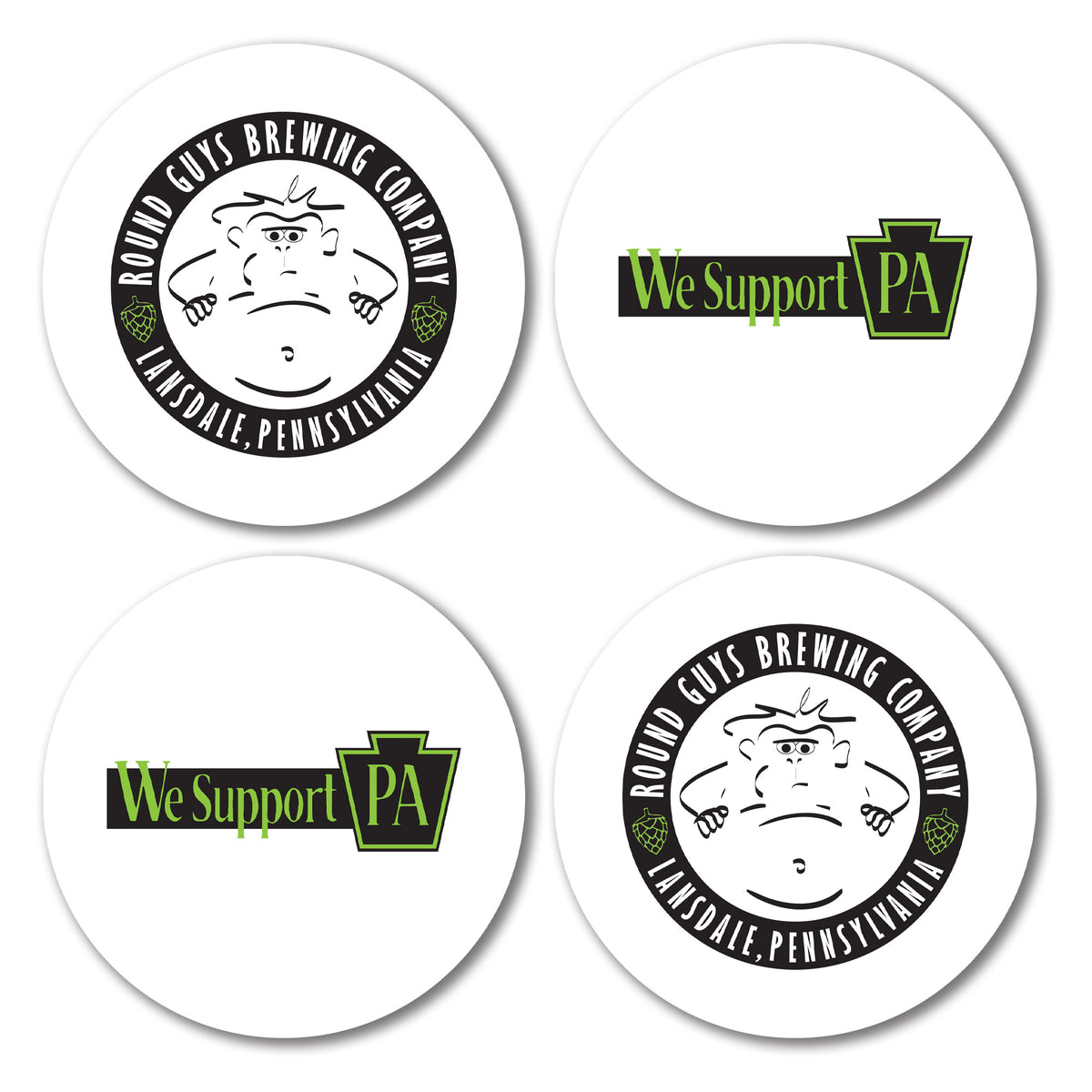 Round Guys Brewing We Support PA Coasters