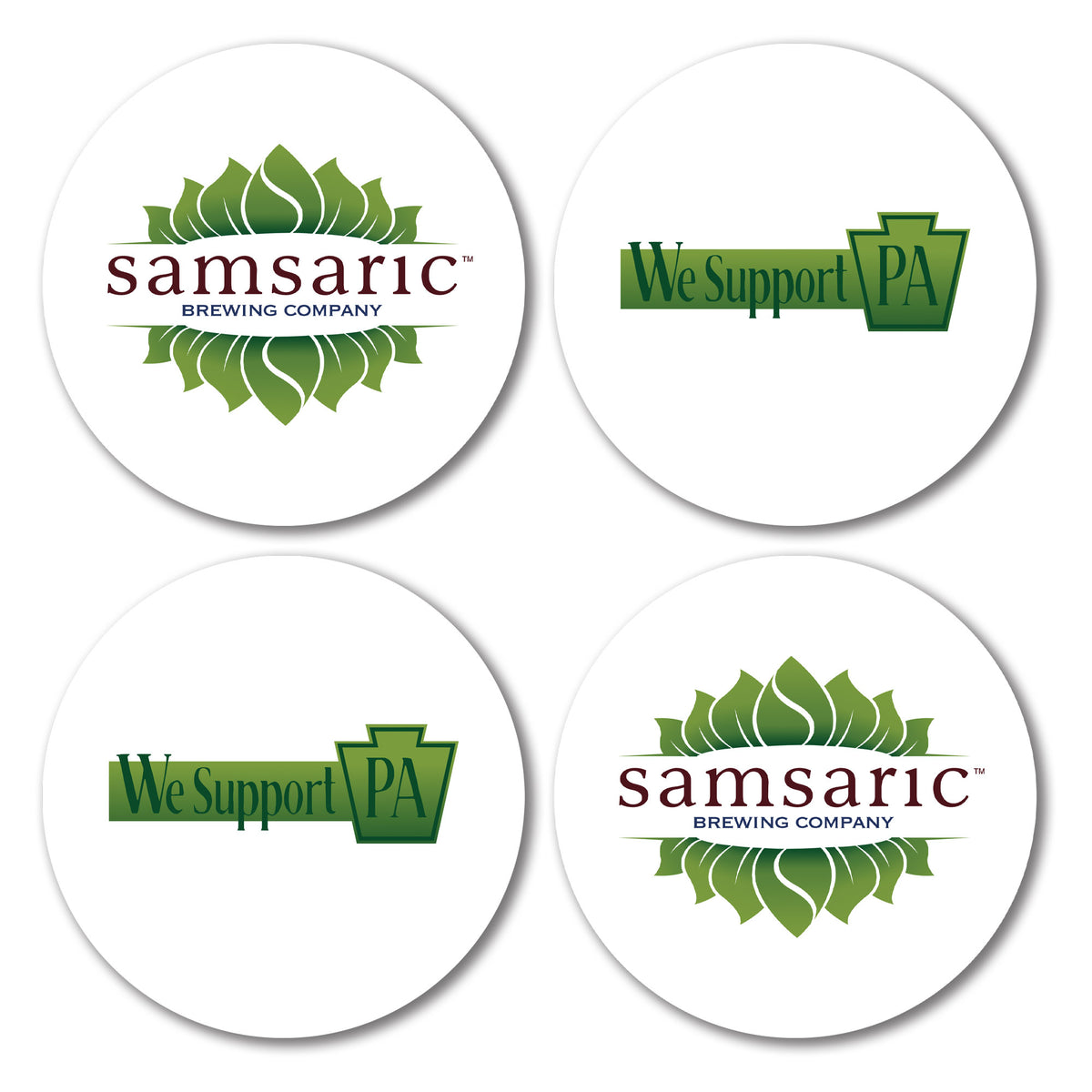 Samsaric Brewing Company We Support PA Coasters