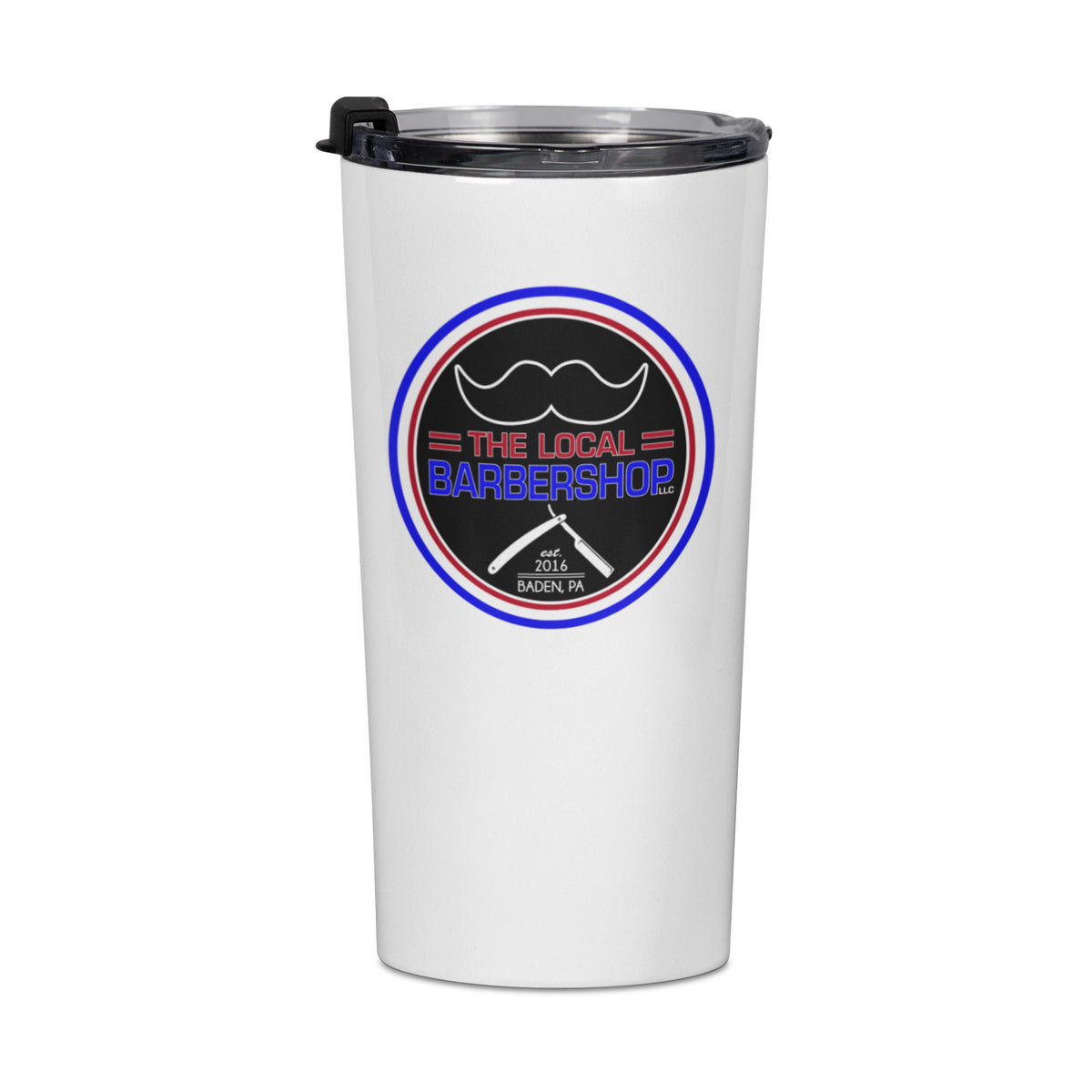 The Local Barbershop We Support PA Travel Mug