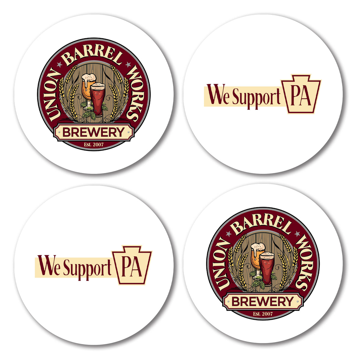 Union Barrel Works We Support PA Coasters