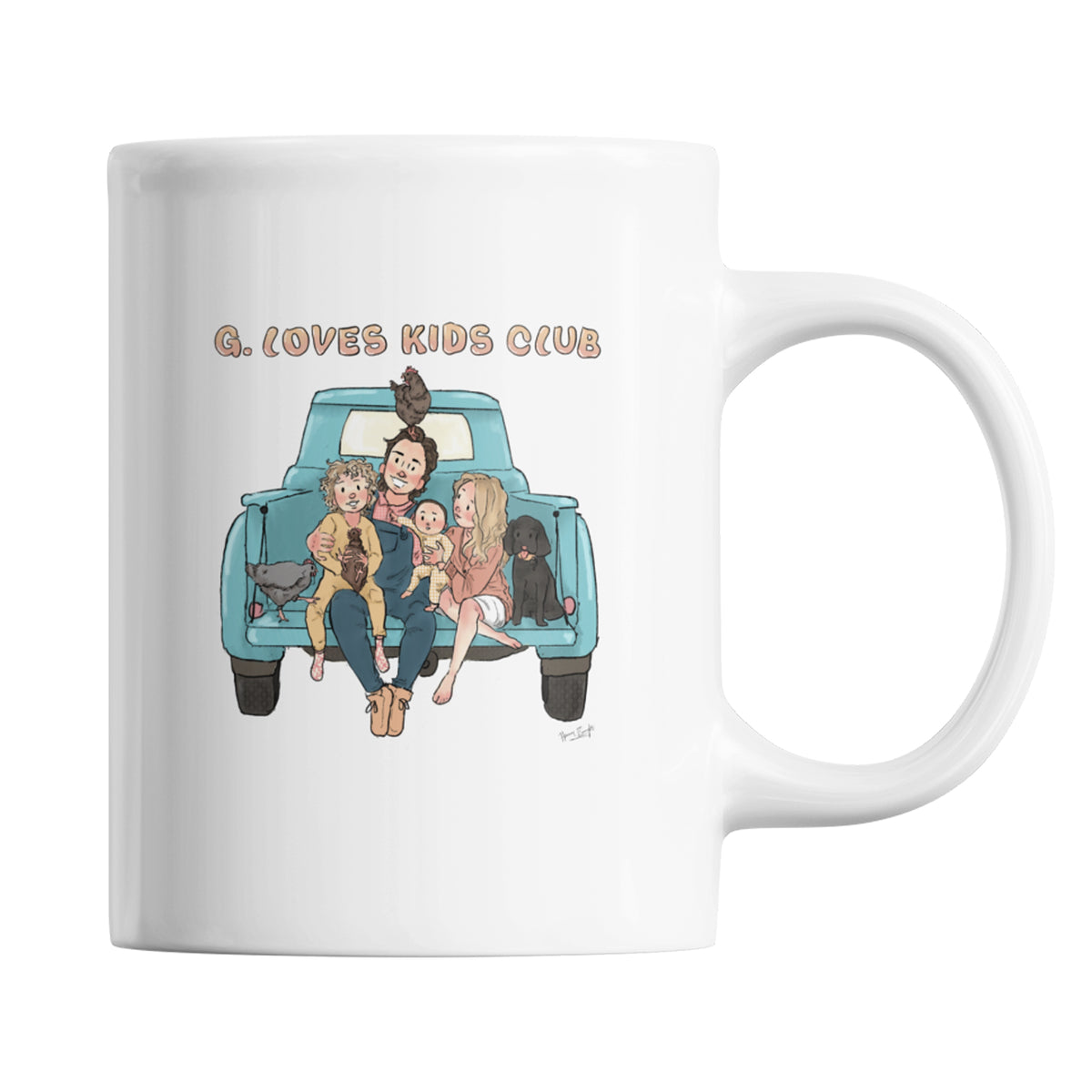G. Love Kids Club We Support PA Coffee Mug