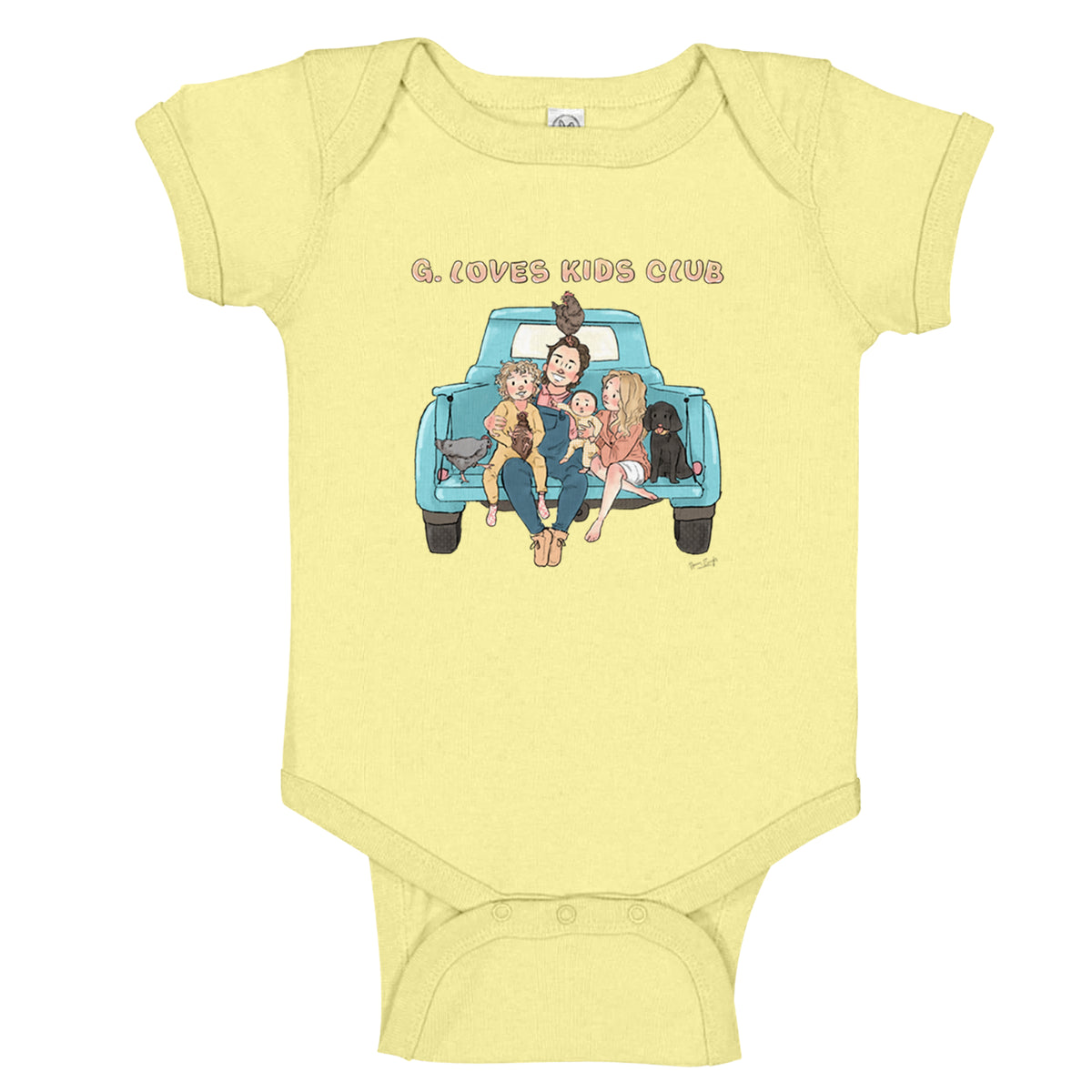 G. Love Kids Club We Support PA Infant Body Suit