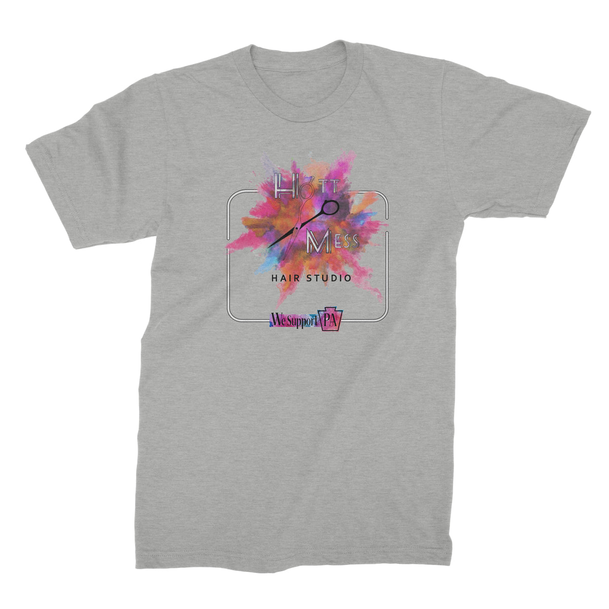Hot Mess Hair Studio We Support PA T-Shirt