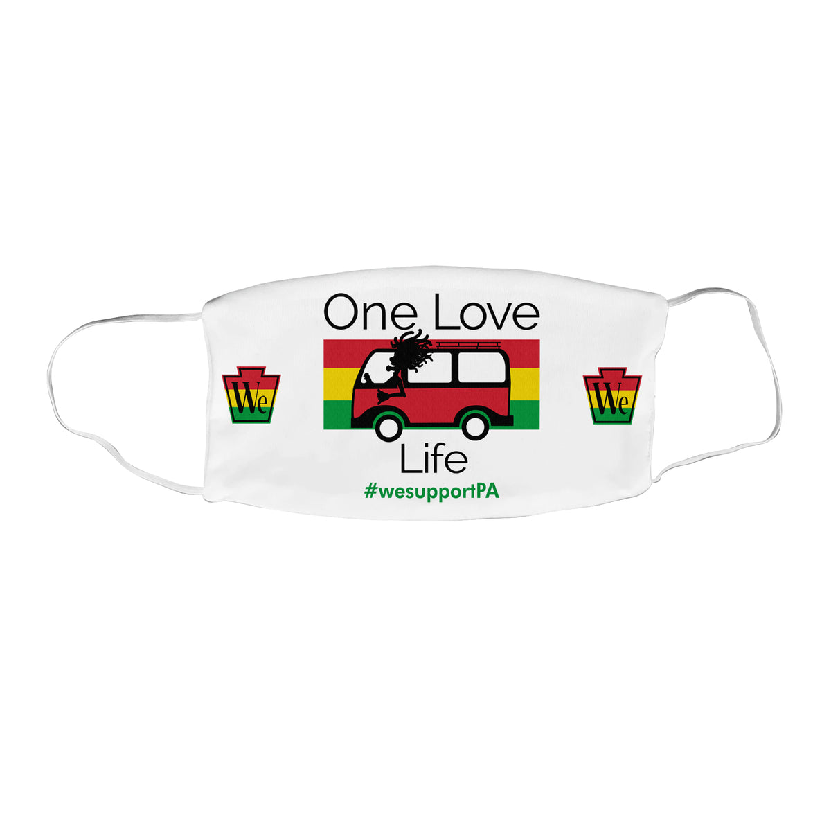 One Love Life We Support PA Face Mask