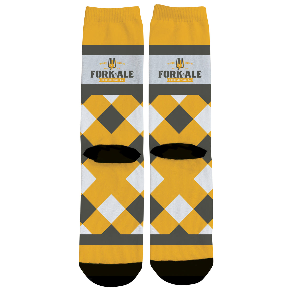 Fork and Ale We Support PA Dress Socks