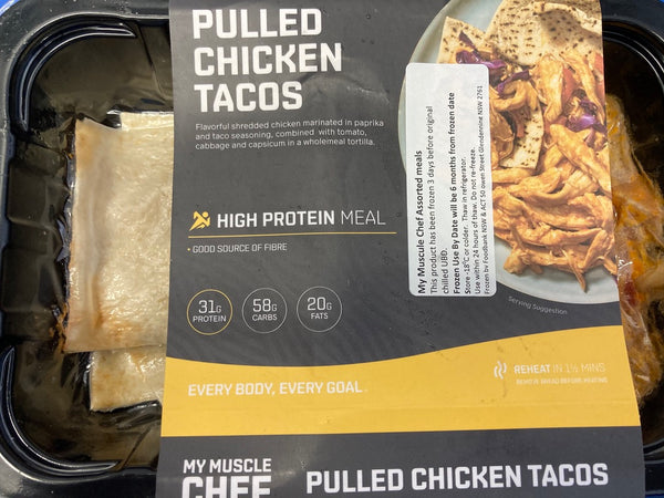 # MY MUSCLE CHEF Pulled Ckicken Tacos 320g