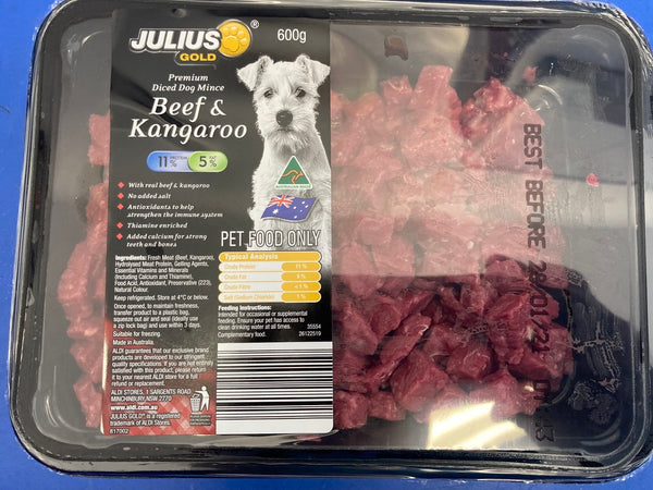 # Julius Diced beef and kangaroo for Dogs 1K