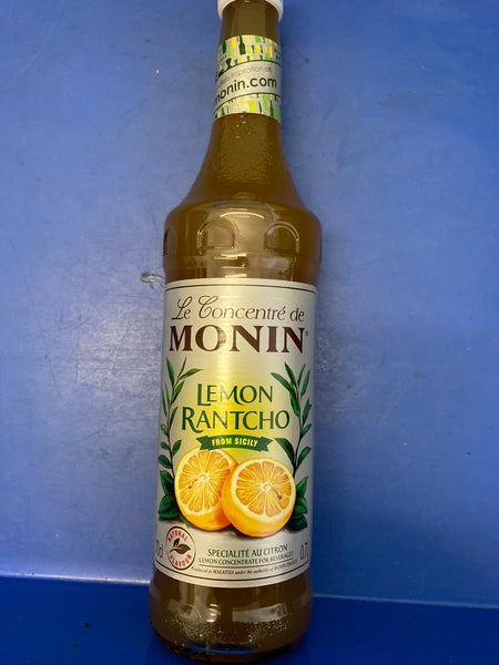 MONIN Lemon Rantcho Syrup, Balance of Fresh Lemon and Lime 700ml