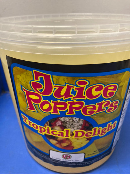 CHOICE FINEE INC. Tropical Delight Juice Poppers in Tubs 3.4kg