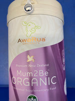 AwaRua Premium Organics Milk Powder Mum2Be 830g
