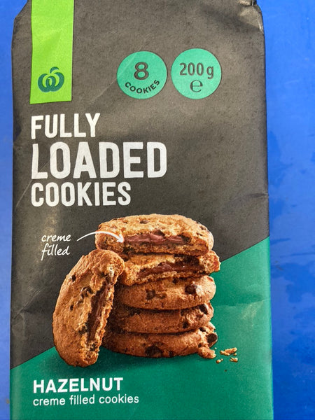 WOOLWORTHS Fully Loaded Cookies Hazelnut Flavour 200g