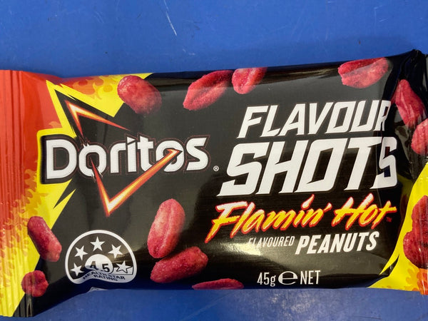 DORITOS Flavour Shots Flamin' Hot Flavoured Peanuts 45g