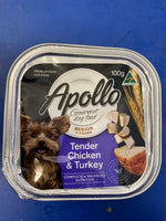 APOLLO Gourmet Adult dog food 1+ years Tender chicken, Turkey 100g